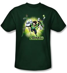 Green Lantern Kids T-shirt Lantern Burst Youth Hunter Green Tee