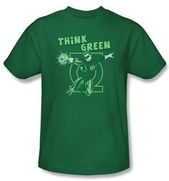 Green Lantern Kids T-shirt Think Green Youth Kelly Green Tee