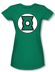 Green Lantern Logo Juniors T-shirt - Kelly Green Tee