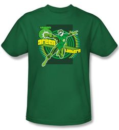 Green Lantern Superhero Kids T-shirt - DC Comics Kelly Green Tee Youth
