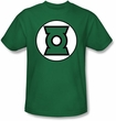 Green Lantern Superhero Logo T-shirt - Adult Kelly Green Tee