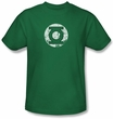 Green Lantern T-shirt Distressed Lantern Logo Kelly Green Tee