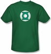 Green Lantern T-shirt Distressed Logo Kelly Green Tee