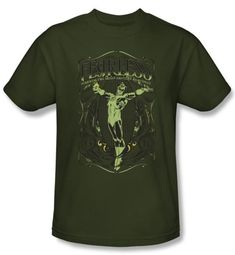 Green Lantern T-shirt Fearless DC Comics Army Green Tee