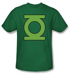 Green Lantern T-shirt Gl Emblem Kelly Green Tee