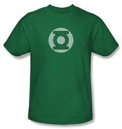 Green Lantern T-shirt GL Little Logos Kelly Green Adult Tee