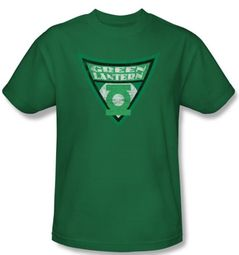Green Lantern T-shirt Green Lantern Shield Kelly Green Tee