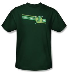 Green Lantern T-shirt Lantern Stripe Logo Hunter Green Tee