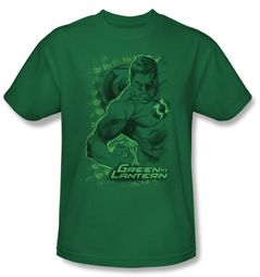 Green Lantern T-shirt Pencil Energy Kelly Green Tee