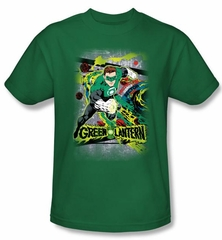 Green Lantern T-shirt Space Sector 2814 Kelly Green Tee