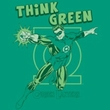 Green Lantern T-shirt Think Green Kelly Green Tee