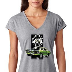 Green Super Bee Ladies Dodge Shirts