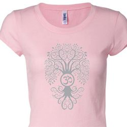 Grey Bodhi Tree Ladies Yoga Shirts