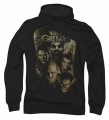 Grimm Hoodie Sweatshirt Wesen Black Adult Hoody Sweat Shirt
