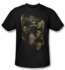 Grimm Shirt Wesen Adult Black Tee T-Shirt