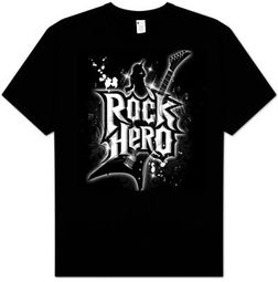 Guitar T-shirt - Rock Hero Guitar Player Adult Tee