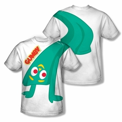 Gumby Shirt Bend Backwards Sublimation Youth Shirt Front/Back Print