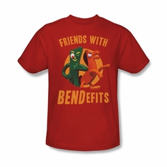 Gumby Shirt Bendefits Red T-Shirt