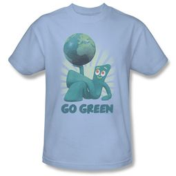 Gumby Shirt Go Green Light Blue T-Shirt
