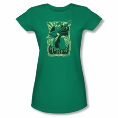 Gumby Shirt Juniors Rock Star Kelly Green T-Shirt