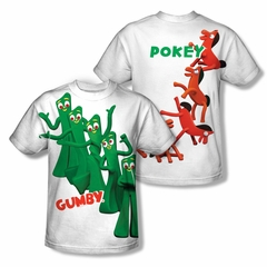 Gumby Shirt Pose Sublimation Youth Shirt Front/Back Print