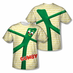Gumby Shirt Stretched Sublimation Shirt Front/Back Print