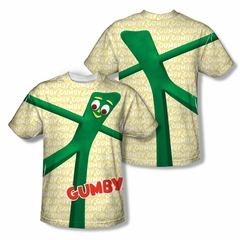 Gumby Shirt Stretched Sublimation Youth Shirt Front/Back Print