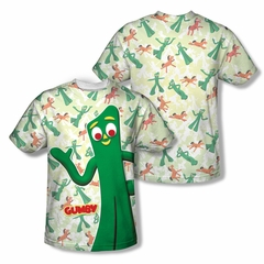 Gumby Shirt Waving Sublimation Shirt Front/Back Print