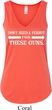 Guns Permit Ladies Flowy V-neck Tank Top