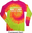 Guns Permit Long Sleeve Tie Dye Shirt