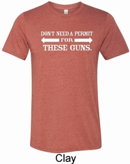 Guns Permit Mens Tri Blend Crewneck Shirt