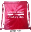 Guns Permit Tie Dye Bag