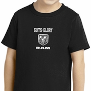 Guts and Glory Ram Logo Small Print Kids Shirts