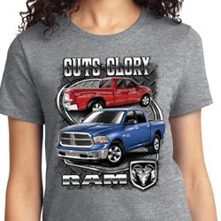 Guts Glory Ram Trucks Ladies Dodge Shirts