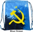 Gym Bag Yellow Hammer And Sickle Tie Dye Bag