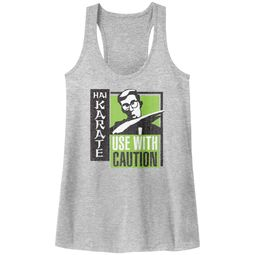 Hai Karate Juniors Tank Top Green Chop Athletic Heather Racerback