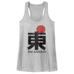 Hai Karate Juniors Tank Top HK Logo Athletic Heather Racerback