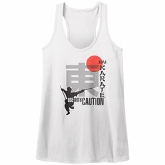 Hai Karate Juniors Tank Top Use With Caution White Racerback