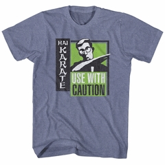 Hai Karate Shirt Green Chop Heather Blue T-Shirt
