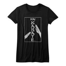 Hai Karate Shirt Juniors Chop Black T-Shirt