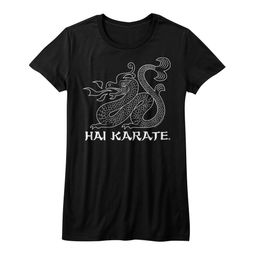 Hai Karate Shirt Juniors HK Dragon Black T-Shirt
