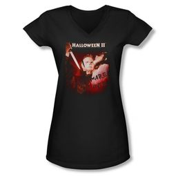 Halloween II Shirt Juniors V Neck Nightmare Black Tee T-Shirt