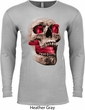 Halloween Cobra Skull Long Sleeve Thermal Shirt