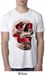 Halloween Cobra Skull Mens Burnout Shirt