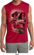 Halloween Cobra Skull Mens Sleeveless Moisture Wicking Shirt