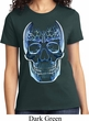Halloween Glass Skull Ladies Shirt