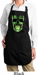 Halloween Glow Bones Ladies Full Length Apron with Pockets