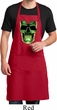 Halloween Glow Bones Mens Full Length Apron with Pockets