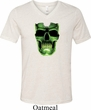 Halloween Glow Bones Mens Tri Blend V-neck Shirt