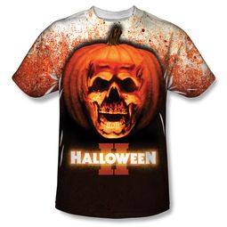 Halloween II Pumpkin Skull Sublimation Shirt